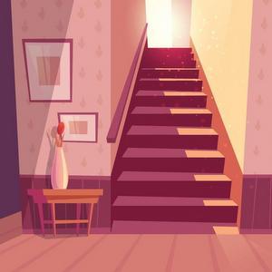 À l'étage