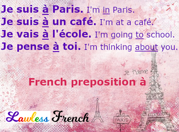 À - French preposition