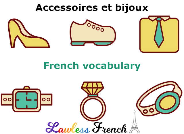 Accessories and jewelry in French