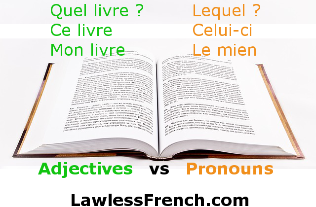 French adjectives vs pronouns