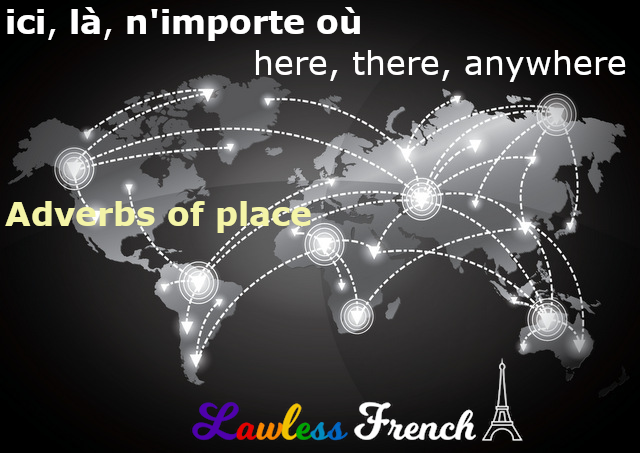French adverbs of place