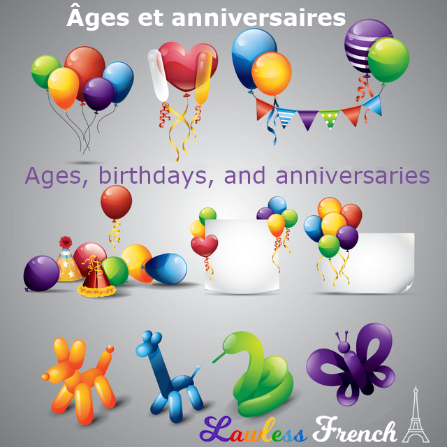 French birthdays and ages