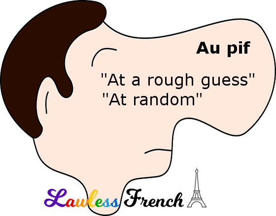Au pif - French expression