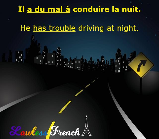 Avoir du mal à conduire la nuit