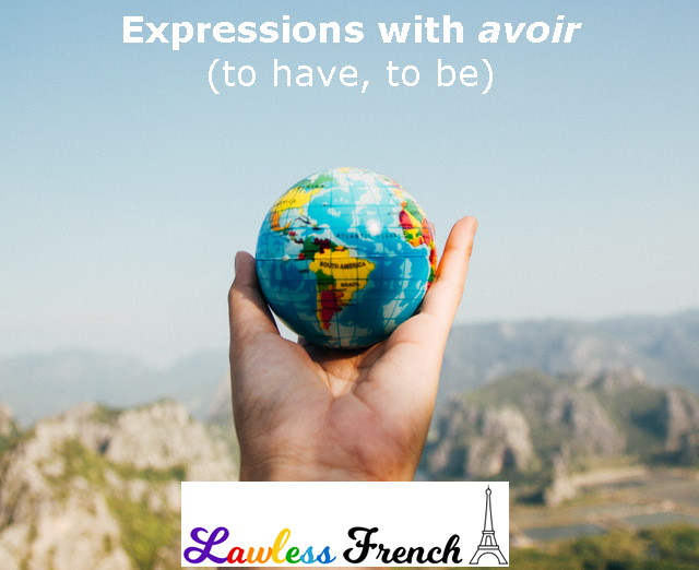 French expressions with avoir