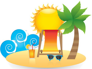 Beach and pool - French vocabulary