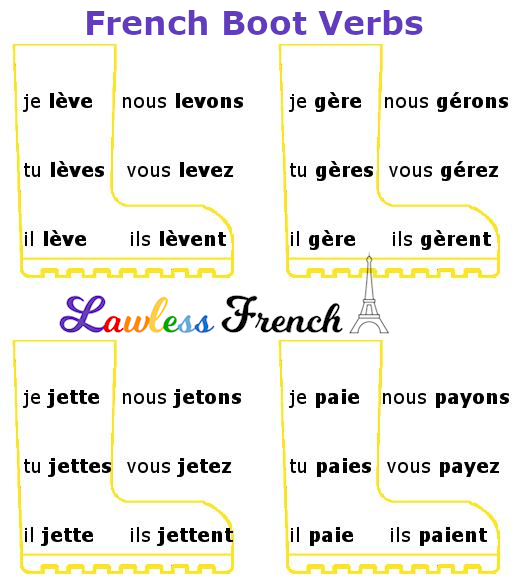 French boot verbs