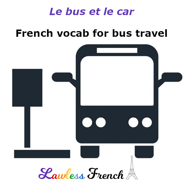 French bus vocabulary