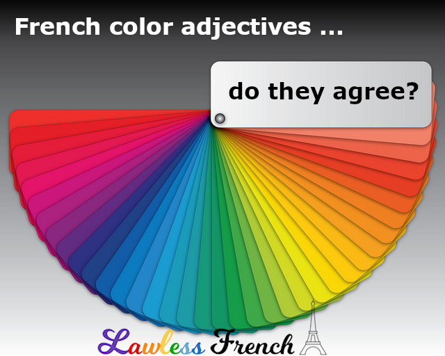 Agreement with French colors