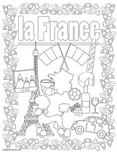 France coloring page