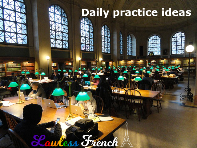 Daily French practice