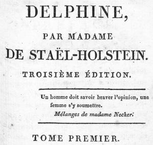 Delphine, de Mme de Staël