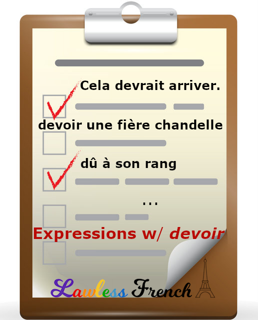 French expressions with devoir