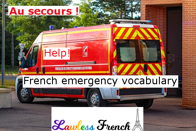 French emergency vocabulary