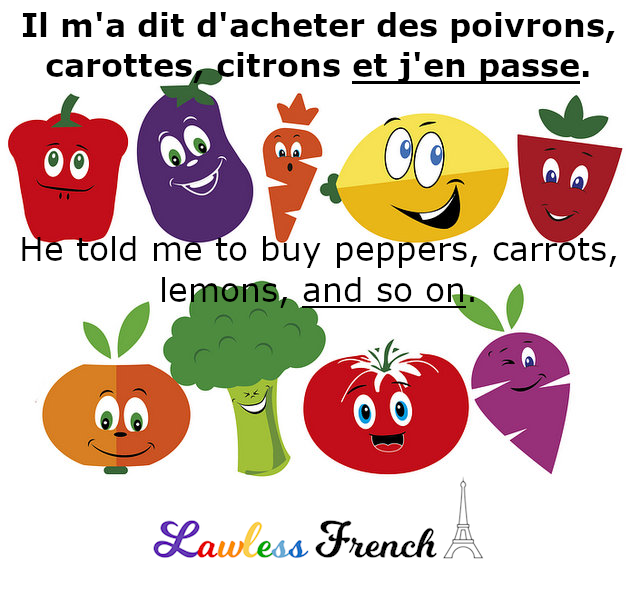 J'en passe - French expression