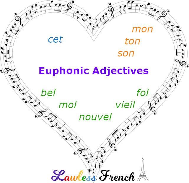 French euphonic adjectives