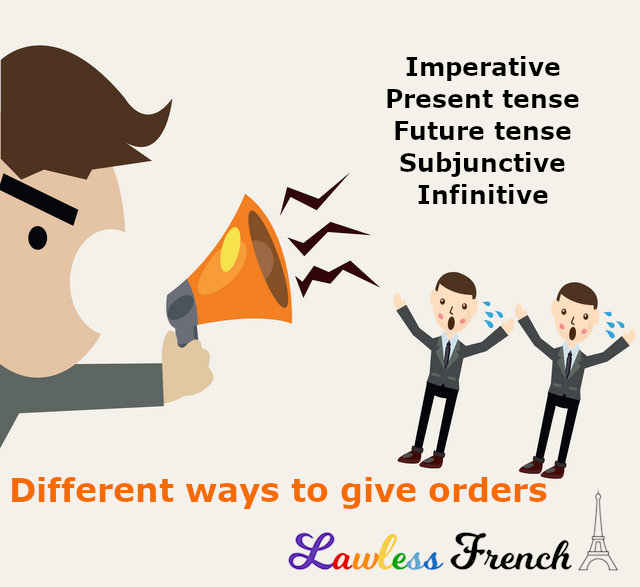Giving orders in French