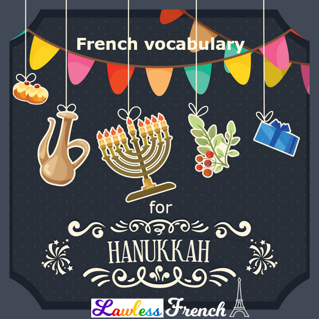 French Hanukkah vocab