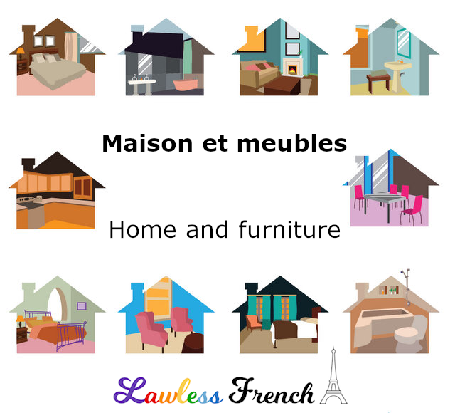 Home and furniture - French vocabulary