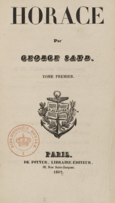 Horace, by George Sand