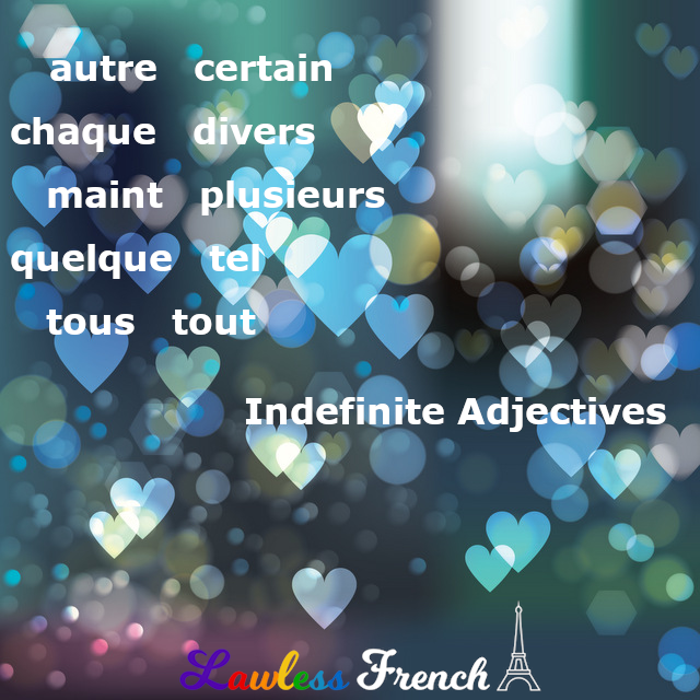 French indefinite adjectives