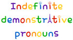 French indefinite demonstrative pronouns