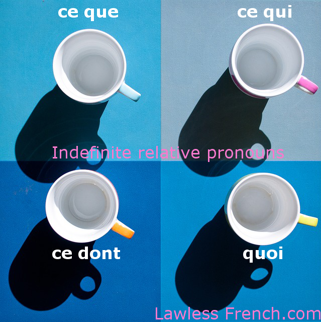 French indefinite relative pronouns
