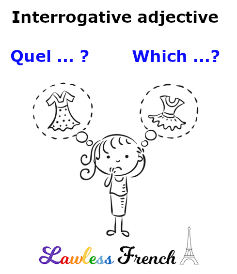 French interrogative adjective