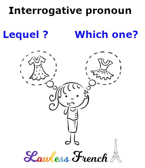 Lequel - French interrogative pronoun