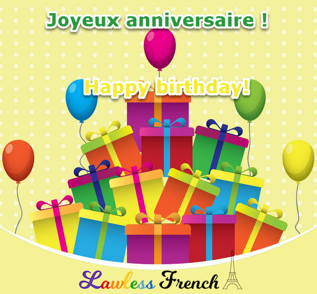 Joyeux Anniversaire Lawless French Expression Happy Birthday
