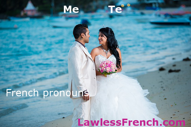 Me and te - French pronouns