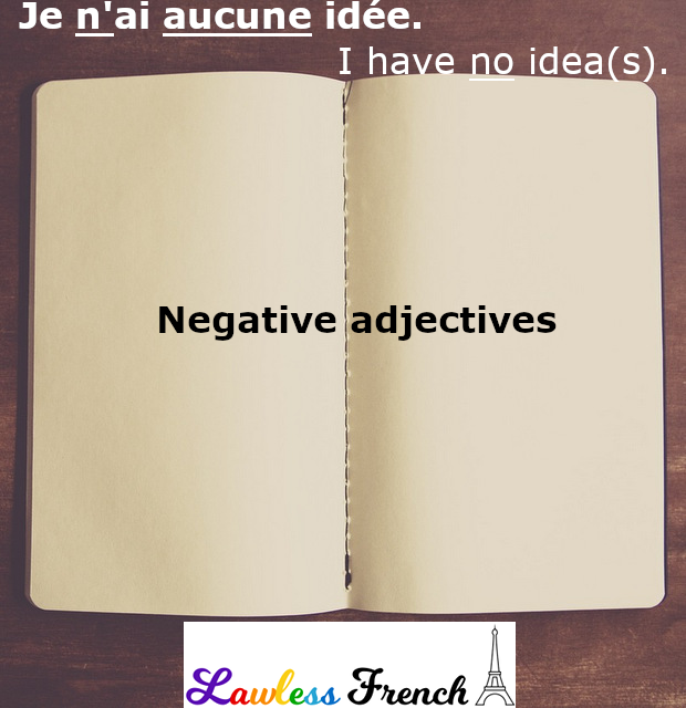 French negative adjectives