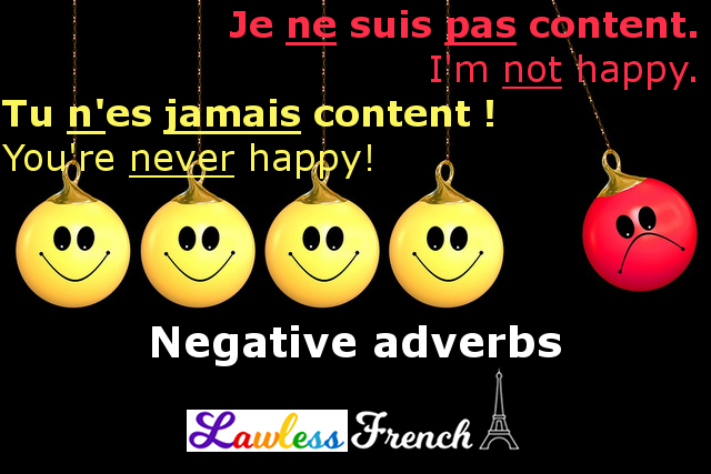 French negative adverbs