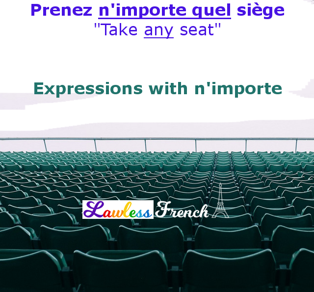 French expressions with n'importe