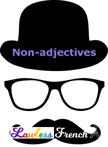 French non-adjectives