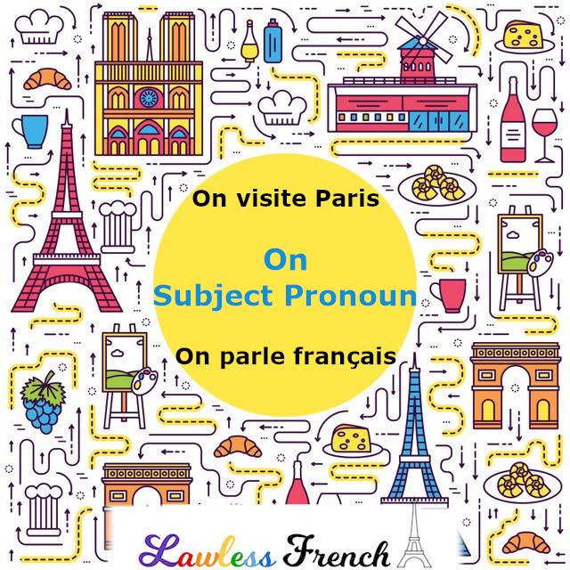 On - French pronoun