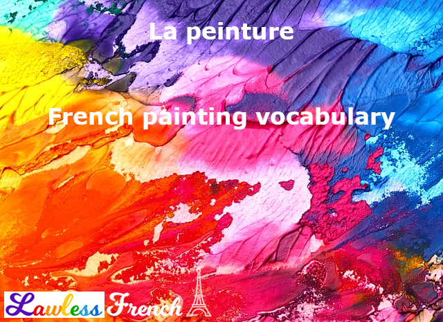 French painting vocabulary