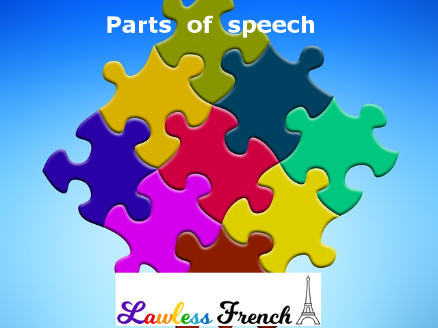 French parts of speech