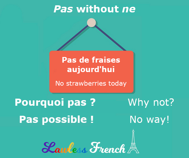 French pas without ne