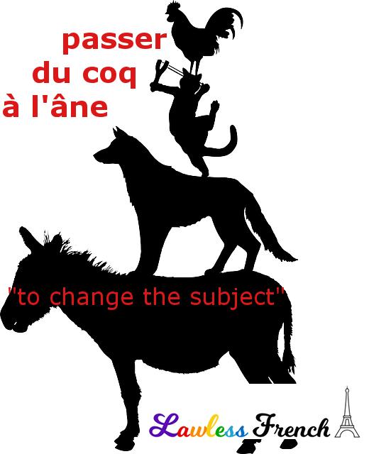 Passer du coq à l'âne