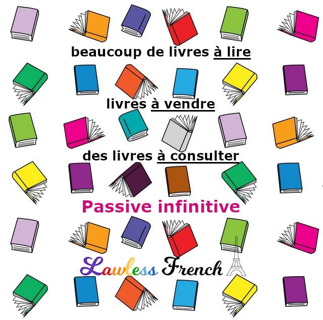 Livres à lire, livres à vendre - French passive infinitive
