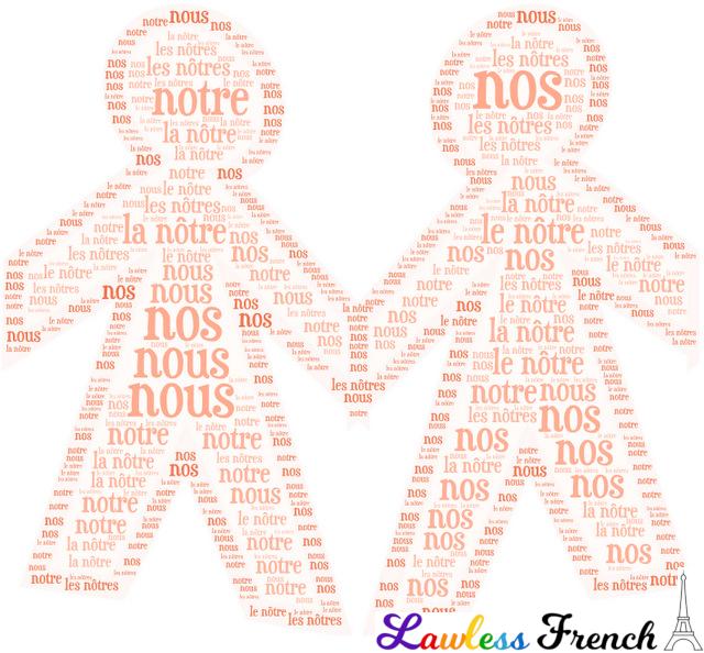 Nous nôtre nôtres - French pronouns