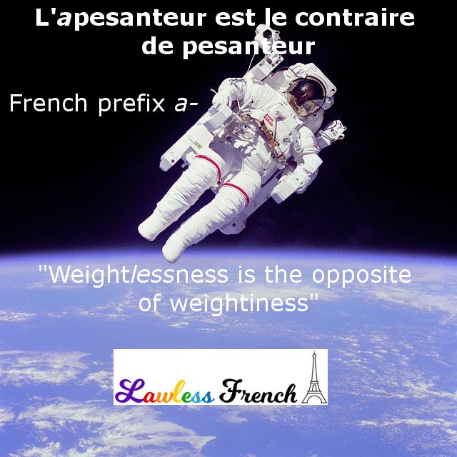 French prefix a