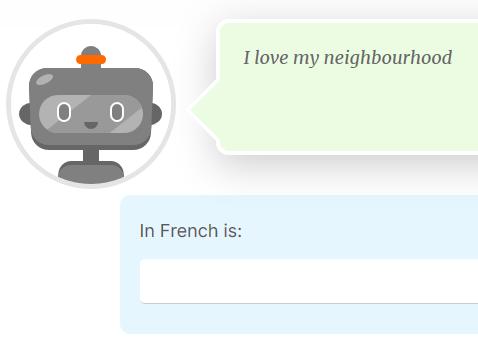 French writing exercise