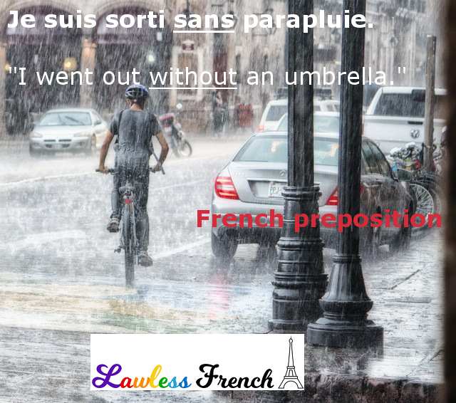 French preposition sans