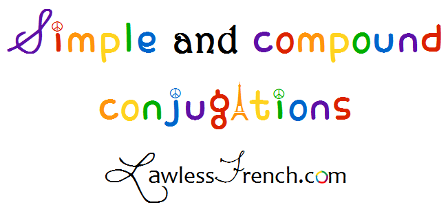French simple and compound verb conjugations
