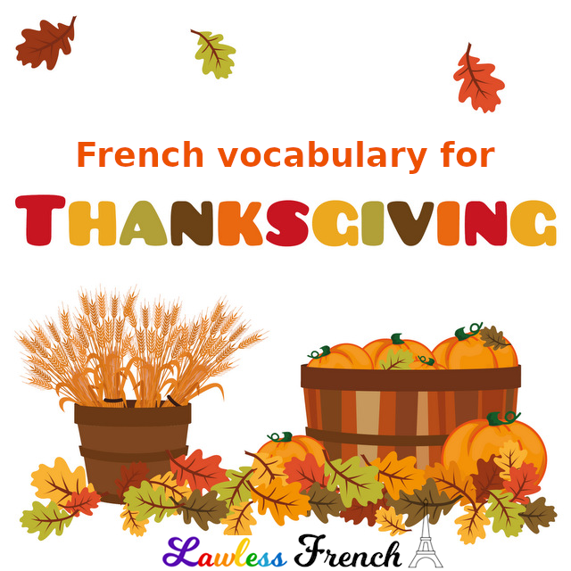 French Thanksgiving vocabulary