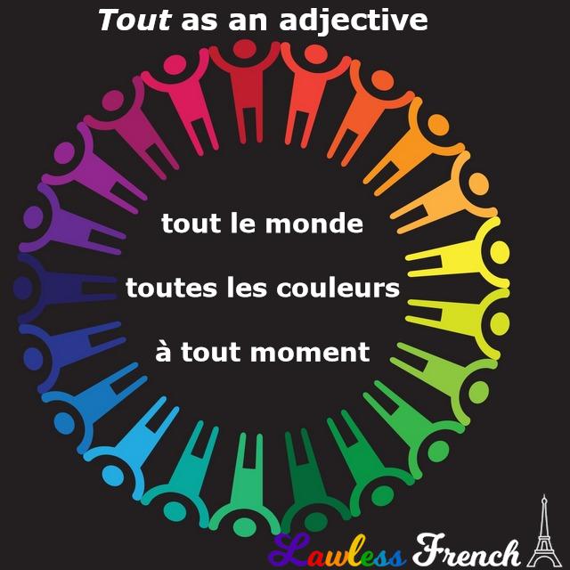 Tout as an adjective