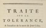 Traité sur la tolérance, de Voltaire