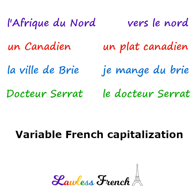 French variable capitalization
